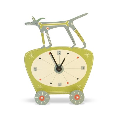 dog clock – all gone